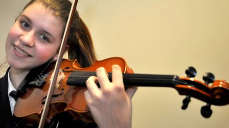 Gordano School. Inga Szmigiel taking part in the North Somerset music service competition. Photo by