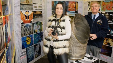 Photographic exhibition by museum assistant manager Miranda Litchfield pictured with restoration man