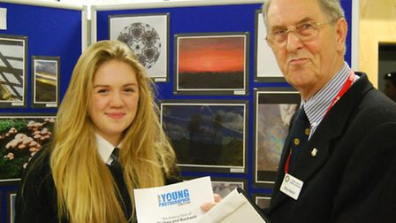 Nailsea School students taking part in Nailsea and Backwell Rotary Club's photograph competition.