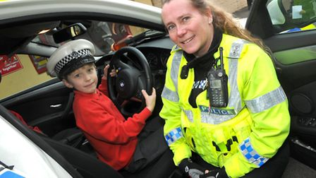 PC Michelle Gozna from the Almondsbury road policing unit. Photo by Jeremy Long.