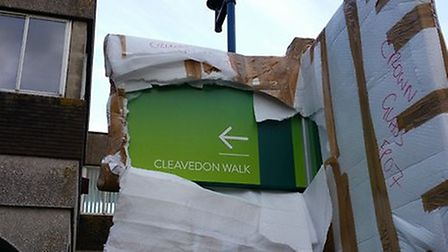Crown Glass Shopping Centre says the sign will be replaced. (Photo: Crown Glass Shopping)