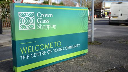 Crown Glass Shopping Centre has placed new signs around the town.