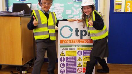 Pupils at High Down Junior School had to make their own warning signs in a competition.