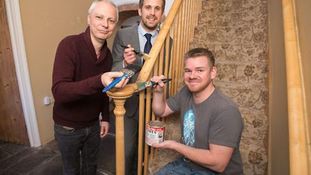 Owners Graham Fell (left) and Jeremy Hayward (right) at the Old Manor House Bed & Breakfast, with Ad