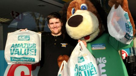 Sales Asst Nathan Smith with the PoundhoundNailsea 99p shop has been replaced by the Poundland Shop.