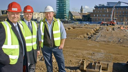Leader of North Somerset Council Nigel Ashton with McLaren Life MD Alistair Bell and Project Manager