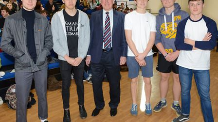 Sixth Form students with Bob Reeves