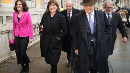 Theresa Villiers, Nicky Morgan, Damian Green, Iain Duncan Smith and Owen Paterson leave the cabinet