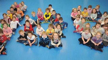 Golden Valley Primary School holding a celebration for reception pupils as they have been there for