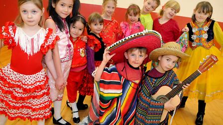 School pupils at Trinity Primary School in Majoram Way are dressing up for a language day. Photo by