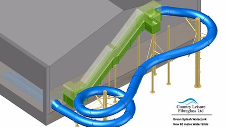 Brean Splash Park are adding a new slide to their facilities.