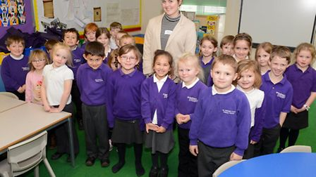 Grace with Foundation year 1 pupils from Wren class