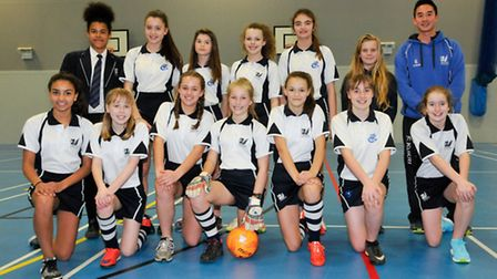 The under 13s girls squad