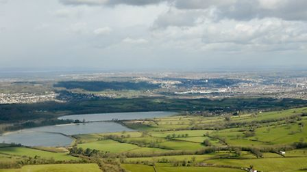 As the plane headed back to the airport, we captured Barrow Gurney reservoir and Bristol city centre