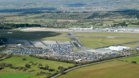 We would soon touch down on the runway of Bristol Airport, as seen here.