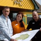 Holiday lodges plans has been deferred Puxton Park, Alistair Mead, Sarah Warren and Phil Payne.