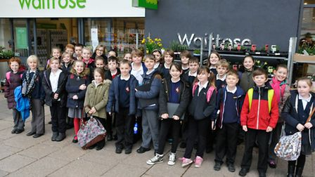 Year 5 pupils visited Waitrose in Nailsea to learn about the rainforest