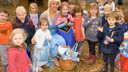 Princess Elsa with the children.