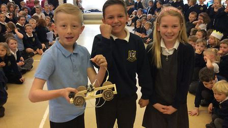 Mary Elton Primary School's model wheelchair competition.