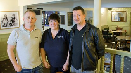 Manager Shane Webber with owners Kim Lamb and Ryan Morgan.