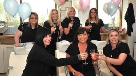 Debbie Webster and her staff at the newly-opened salon. Photo by Jeremy Long.