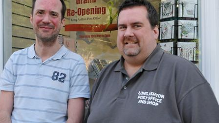 Owners Andrew Crabb and David Andrews ahead of the reopening.