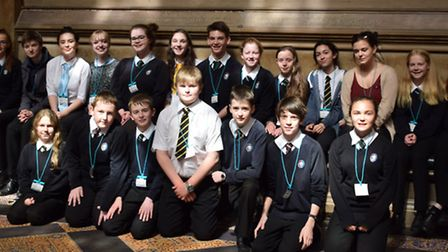 Students from Nailsea School on a tour of the Houses of Parliament.