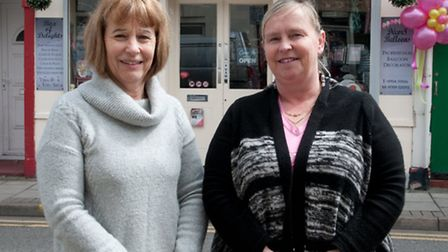 Owners Bottomley and Nikki Brayoutside the new shop.
