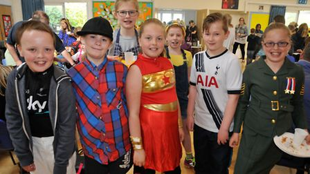 Pupils at the fundraising breakfast, in aid of help for heroes.