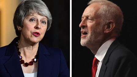 Theresa May and Jeremy Corbyn. Photographs: PA.