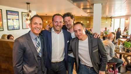 Jason Eaton, club general manager, Nick Taplin, MD, Marco Pierre White and restaurant manager Murra