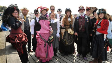 Costumed victorians attended to celebrate the pier's heritage.