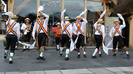 Morris Dancers entertained the guests.