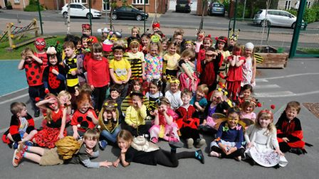 Reception Pupils in their costumes.