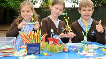 Amelia, Olivia and Fraser with their stall.