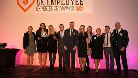 Staff from Bristol and Wessex Billing Services Ltd who picked up four awards.