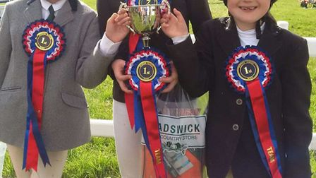 The junior equestrian team from The Downs School.