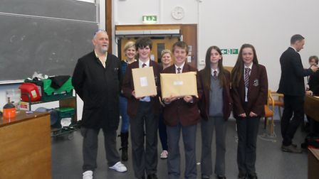 St Katherine's students with their awards.