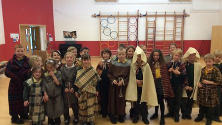 An iron age day took place at Trinity Primary School.