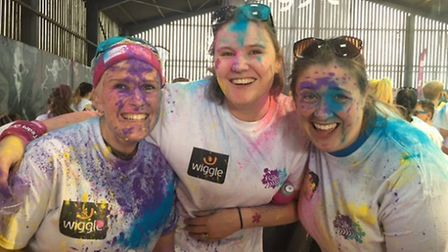 Three Lidl employees after the colour vibe