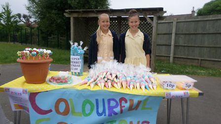 Stalls were run by year six pupils at St Joseph Primary School's business fair.