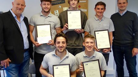 Adam Cottam from Yatton, Tom Holland from Clevedon, Alex Tanner and Luke Hudson from Nailsea and Ere