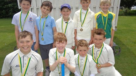 The young cricketers won the North Somerset title at a tournament in Weston.