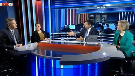 Tory Brexiteer Daniel Kawczynski, Kirsty Blackwell from the SNP and Stella Creasy from Labour on Sky