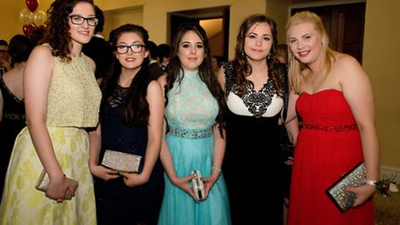 Students at the prom at Leigh Court.