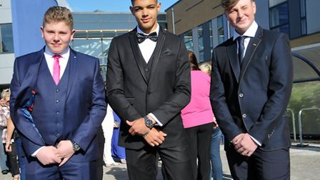 Students at the school before the prom.
