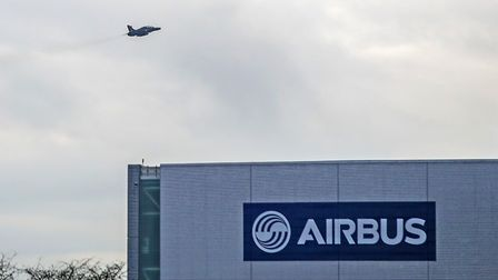 An Airbus wing assembly factory in Broughton, North Wales. Photograph: Peter Byrne/PA.