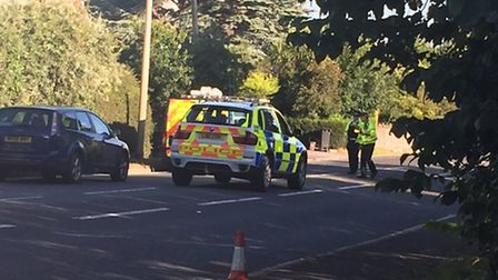 Police are on the scene (Picture: Jason Adams).