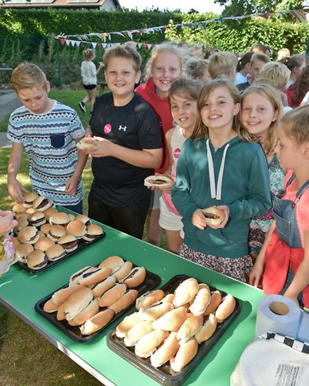 Golden Valley Primary holding a leavers' barbecue.