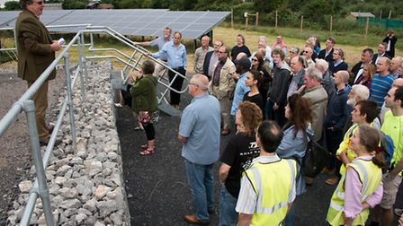 Richard Harris planning consultant for Solarsence explaining how the farm will operate.